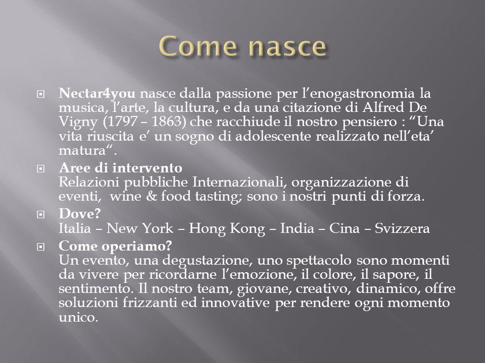 Nectar4you e uno studio di consulenza che offre assistenza ad Aziende Italiane e Straniere in tutti i settori di relazioni pubbliche, consulenza di impresa, fiscale, selezione di personale, eventi di immagine.