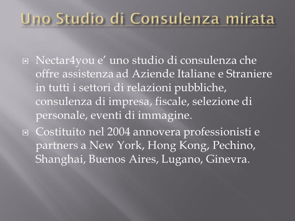 Nectar4you e uno studio di consulenza che offre assistenza ad Aziende Italiane e Straniere in tutti i settori di relazioni pubbliche, consulenza di im