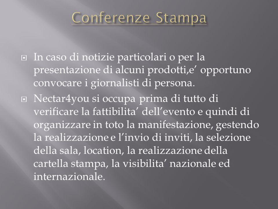 siamo pertanto in grado di organizzare in Italia ed allestero: -Presentazioni -Inaugurazioni -Conferenze stampa -Workshops -Cocktail e buffet a tema -Sfilate