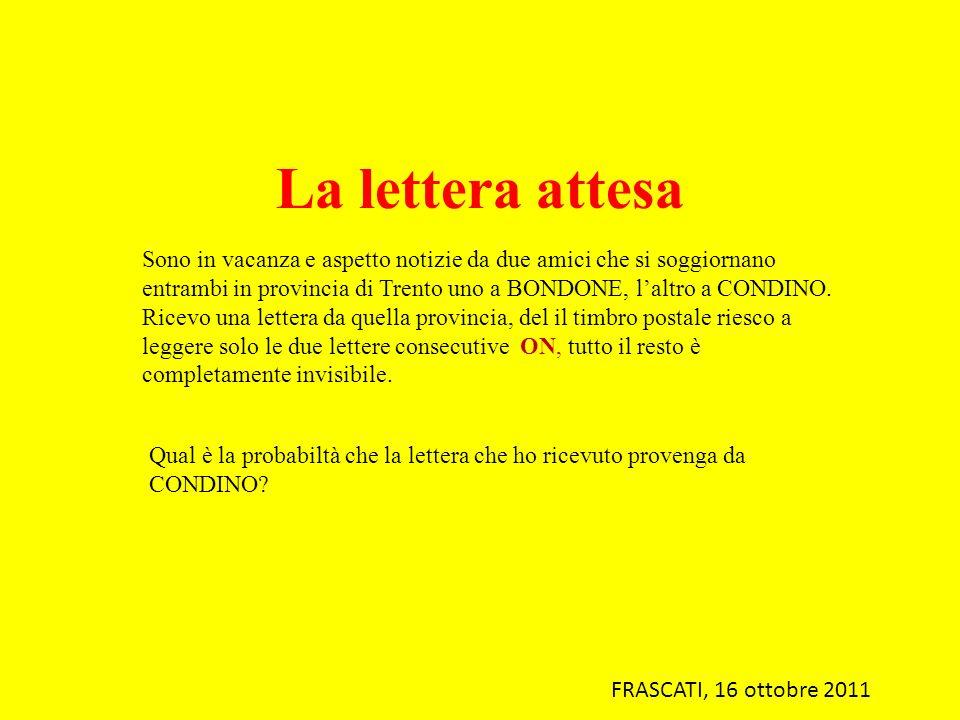 La lettera attesa Sono in vacanza e aspetto notizie da due amici che si soggiornano entrambi in provincia di Trento uno a BONDONE, laltro a CONDINO. R