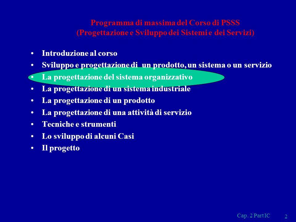 IL CICLO DI SVILUPPO 3 Cap. 2 Part IC