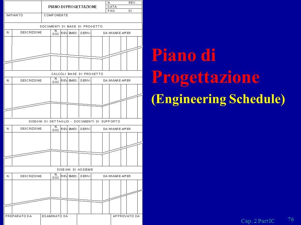 Cap. 2 Part IC 76 Piano di Progettazione (Engineering Schedule)