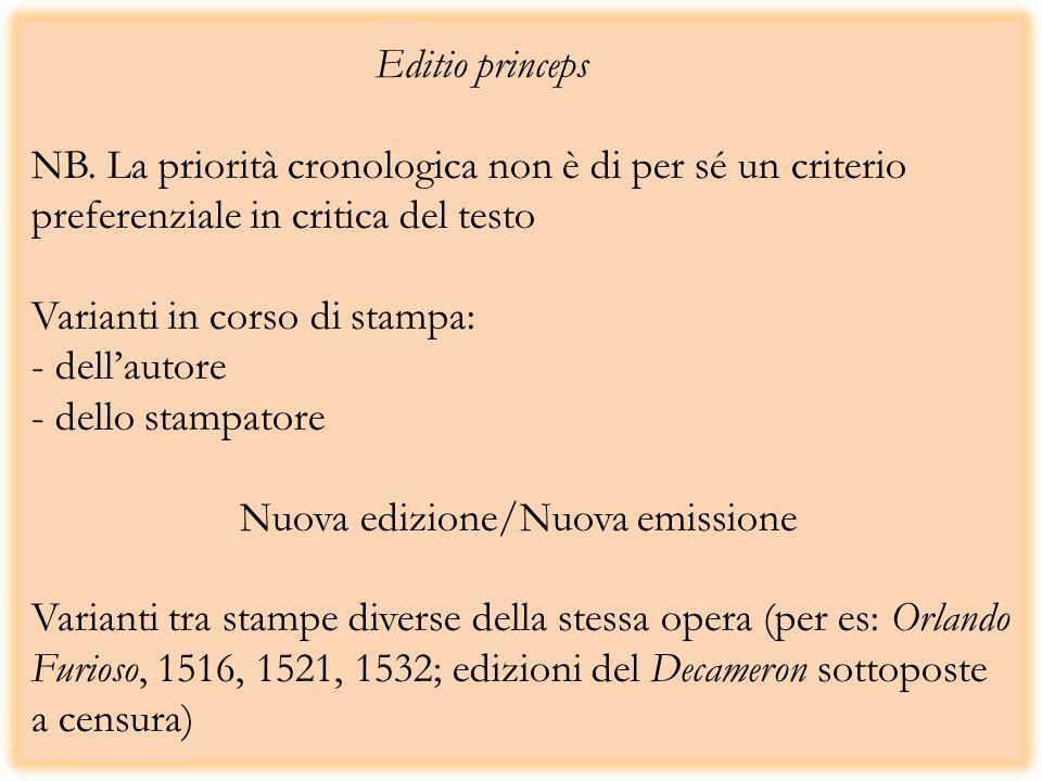 Editio princeps NB.