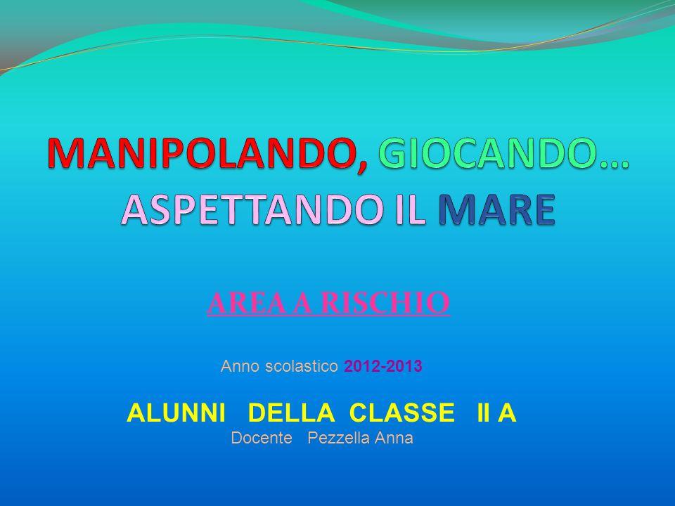 AREA A RISCHIO Anno scolastico 2012-2013 ALUNNI DELLA CLASSE II A Docente Pezzella Anna