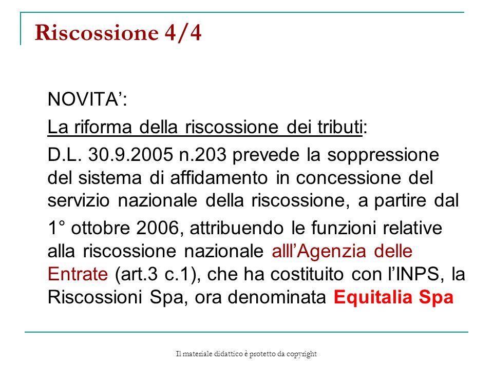 Riscossione 4/4 NOVITA: La riforma della riscossione dei tributi: D.L.