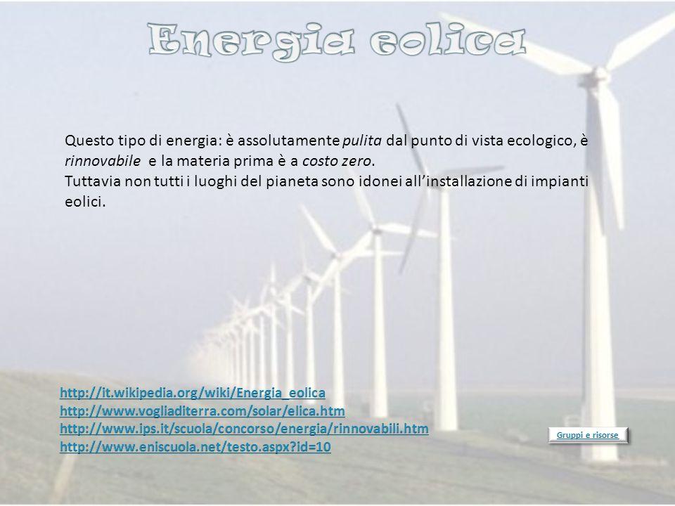Questo tipo di energia: è assolutamente pulita dal punto di vista ecologico, è rinnovabile e la materia prima è a costo zero. Tuttavia non tutti i luo