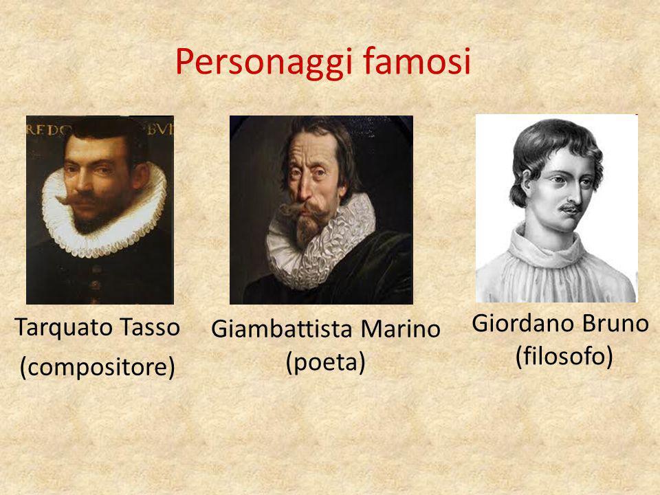 Personaggi famosi Gian Lorenzo Bernini (architetto) Gian Battista Vinco (filosofo, letterario)