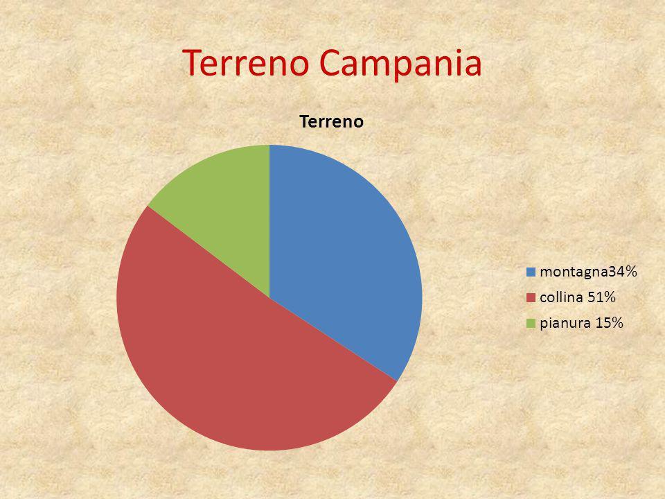 Campania politica La Campania si estende per 13595 km quadrati.