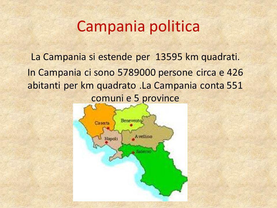 I capoluoghi I capoluoghi sono : Napoli Salerno Avellino Benevento Caserta