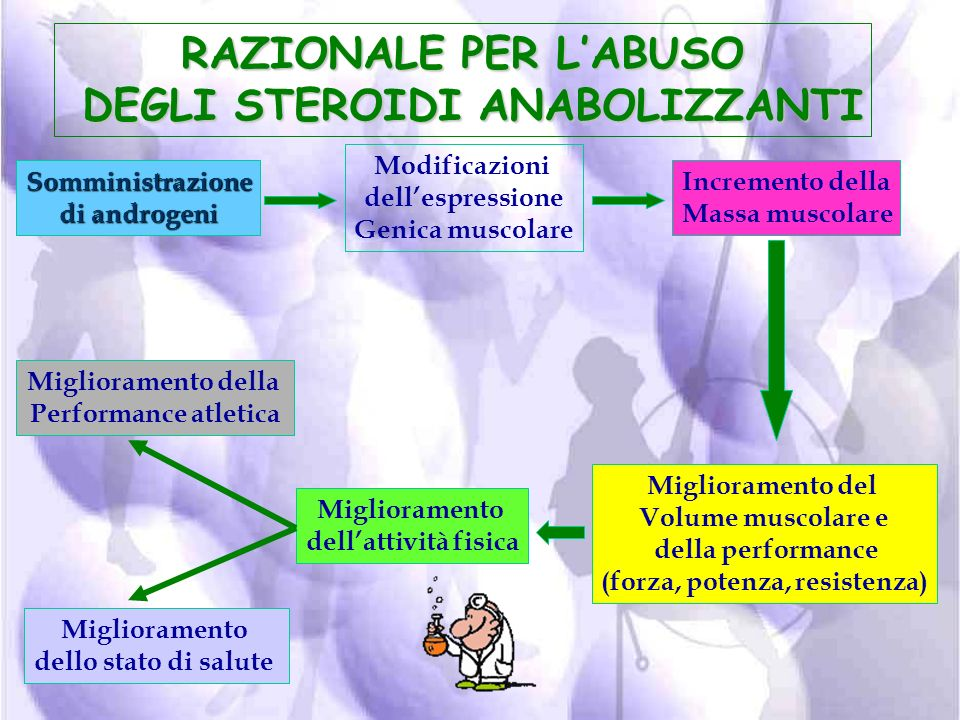 STEROIDI ANABOLIZZANTI ANDROGENICI facilitano l'aumento della massa muscolare attraverso la stimolazione del metabolismo proteico (anabolizzanti) acce