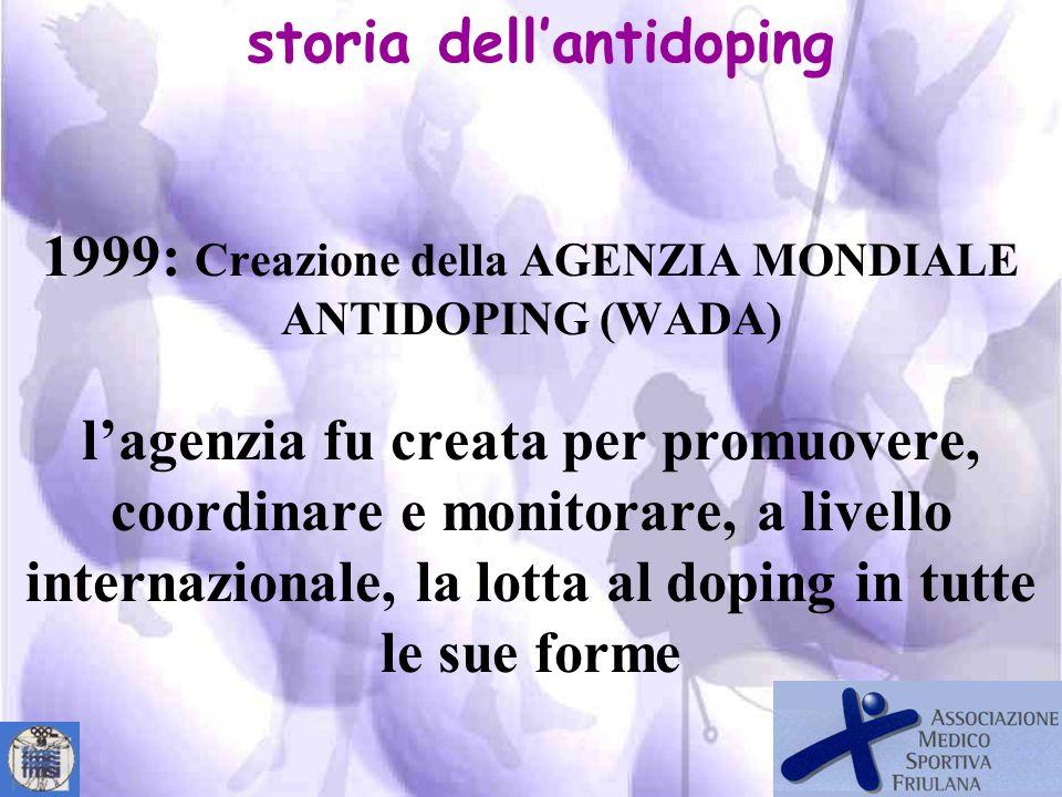 Anti-Doping Convention Strasbourg, 16.XI.1989 Art. 1 Scopo della Convenzione Nellintento di ridurre e, in seguito, eliminare la pratica del doping nel