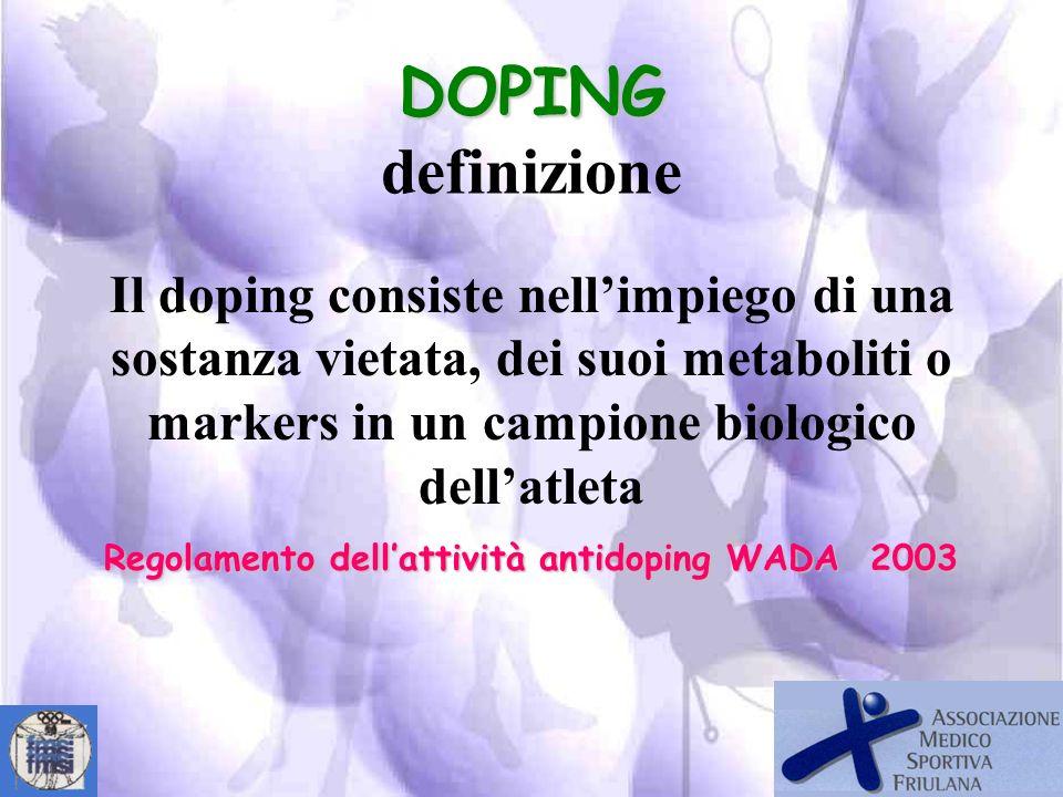 legislazione nella lotta al doping: SPORTIVA- AMMINISTRATIVA