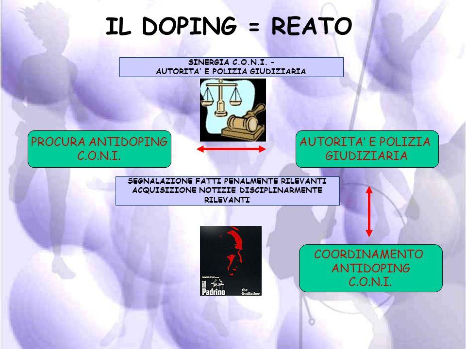IL DOPING PER LA LEGGE ITALIANA = REATO (DELITTO)