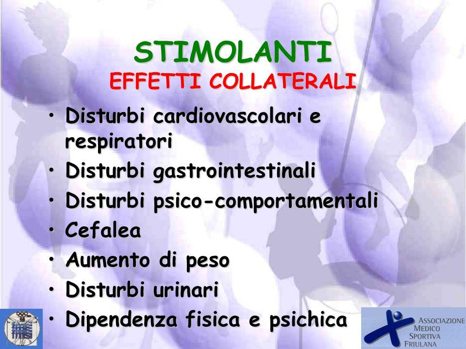 AnfetamineAnfetamine CocainaCocaina EfedrinaEfedrina StricninaStricnina STIMOLANTI ESEMPI