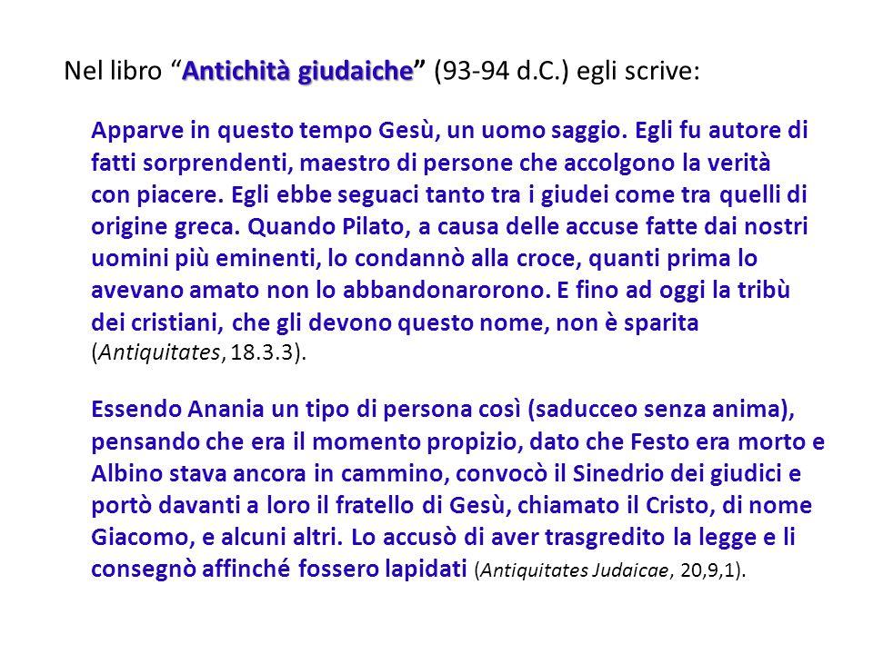Publio Cornelio Tacito (56-118 d.C.) senatore romano e console della provincia dellAsia, fu storico e poeta.