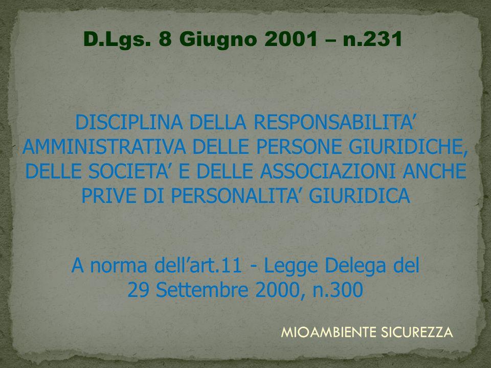 PRIMA del D.Lgs.