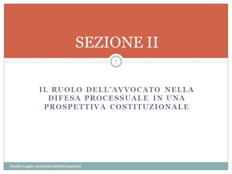 SPESE DI GIUDIZIO Studio Legale Amministrativisti Associati 18 A norma dellart.