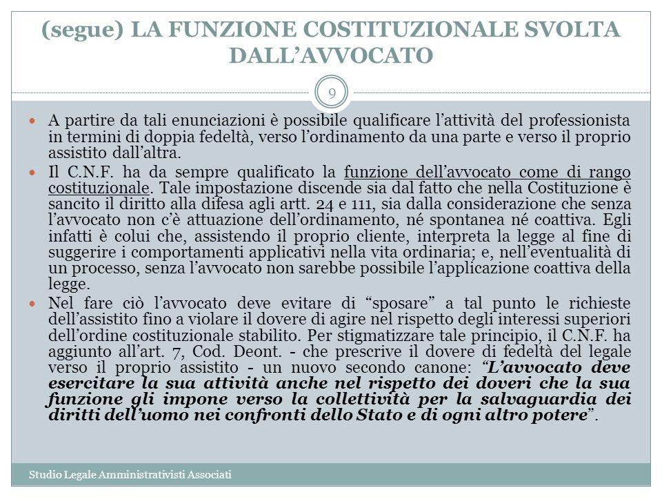LA CONDANNA AGGRAVATA Studio Legale Amministrativisti Associati 20 Il comma 2 dellart.