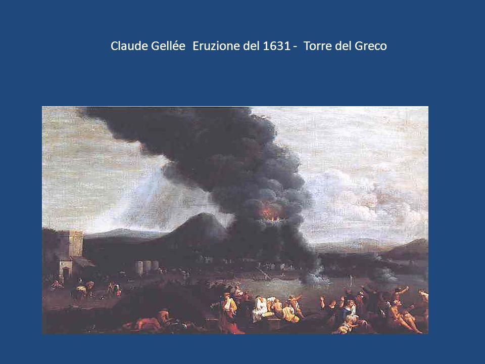 Claude Gellée Eruzione del 1631 - Torre del Greco