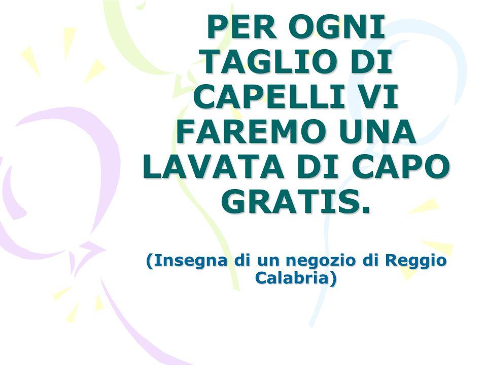 PER OGNI TAGLIO DI CAPELLI VI FAREMO UNA LAVATA DI CAPO GRATIS.