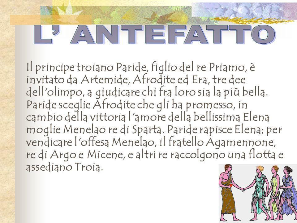 Il principe troiano Paride, figlio del re Priamo, è invitato da Artemide, Afrodite ed Era, tre dee dell'olimpo, a giudicare chi fra loro sia la più be