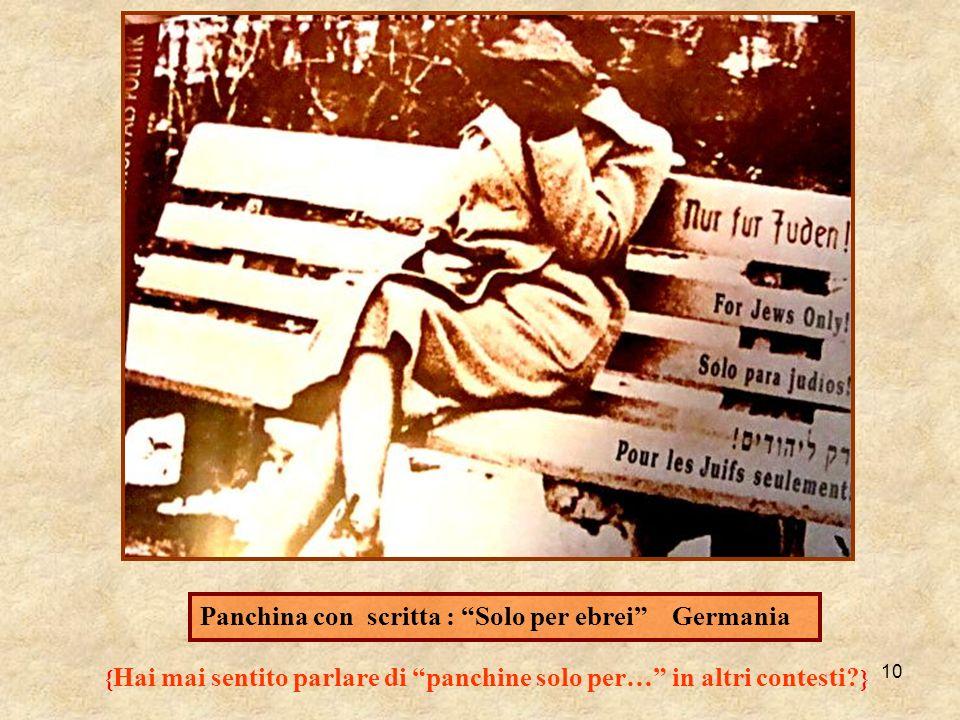 10 Panchina con scritta : Solo per ebrei Germania { Hai mai sentito parlare di panchine solo per… in altri contesti? }