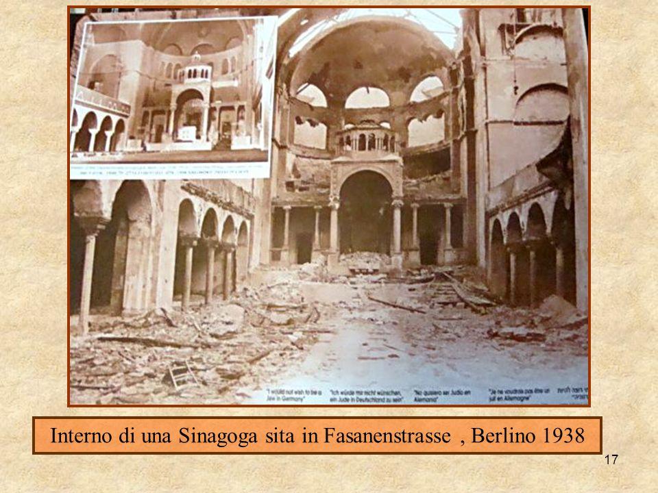 17 Interno di una Sinagoga sita in Fasanenstrasse, Berlino 1938