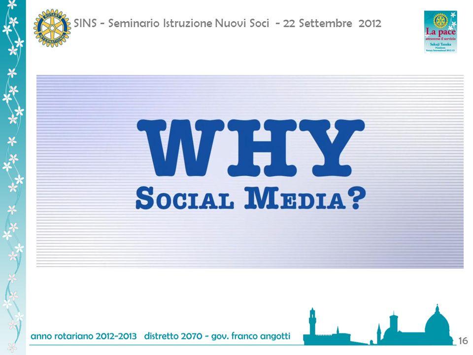 SINS - Seminario Istruzione Nuovi Soci - 22 Settembre 2012 16