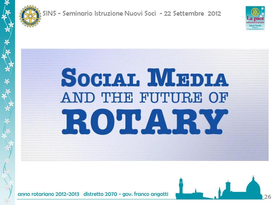 SINS - Seminario Istruzione Nuovi Soci - 22 Settembre 2012 26