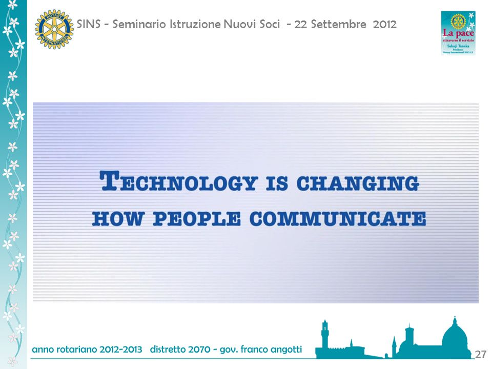 SINS - Seminario Istruzione Nuovi Soci - 22 Settembre 2012 27
