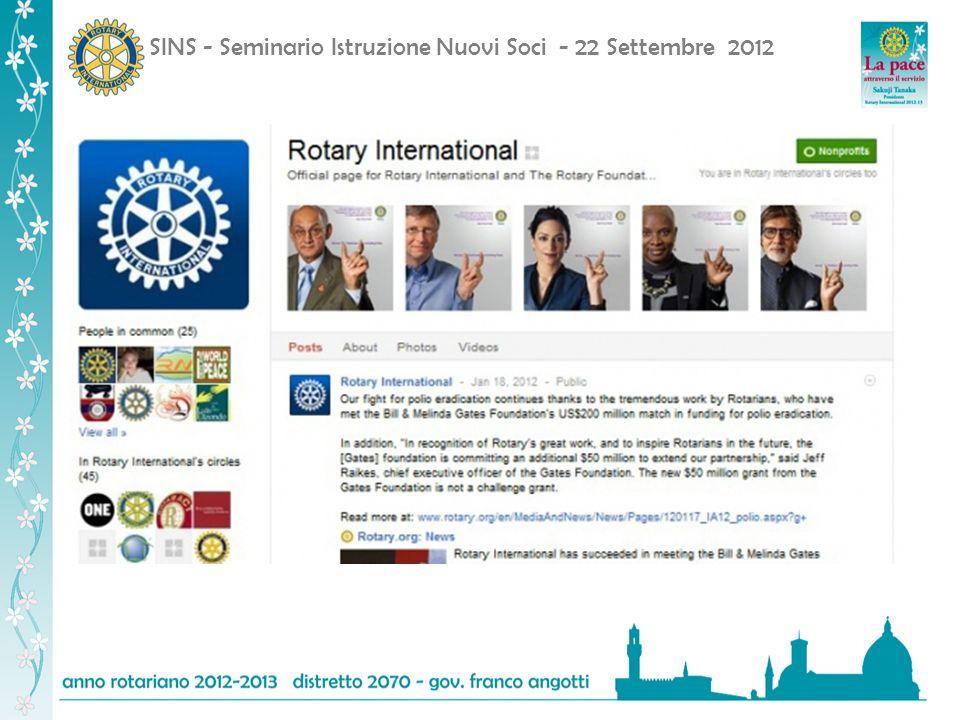 SINS - Seminario Istruzione Nuovi Soci - 22 Settembre 2012