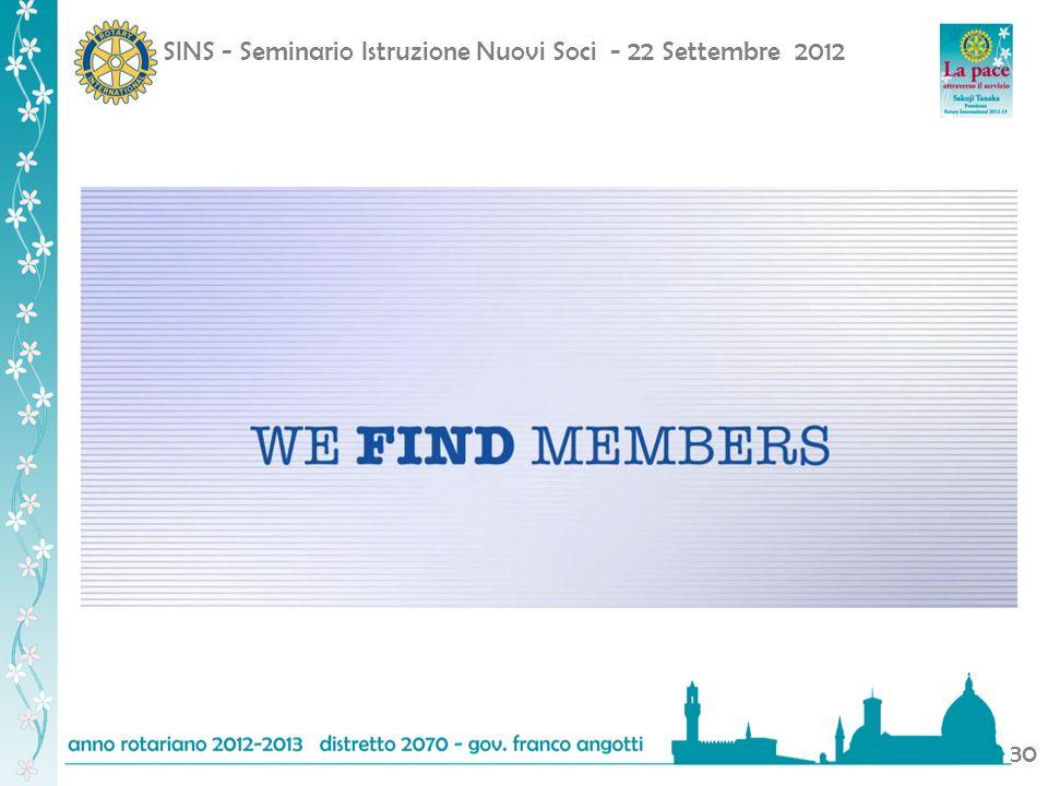 SINS - Seminario Istruzione Nuovi Soci - 22 Settembre 2012 30