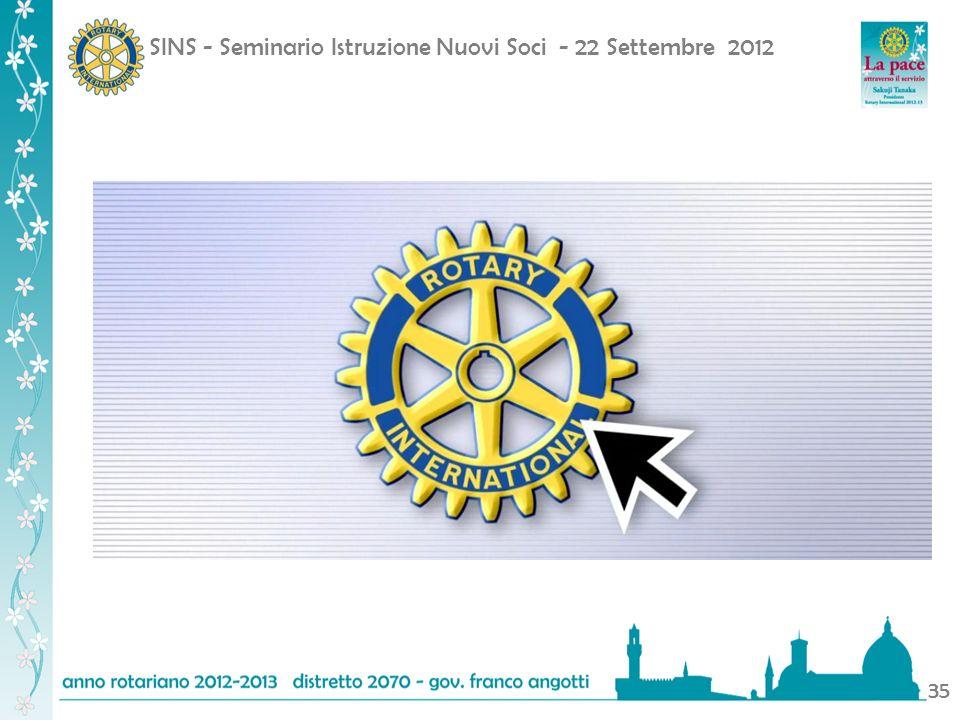 SINS - Seminario Istruzione Nuovi Soci - 22 Settembre 2012 35