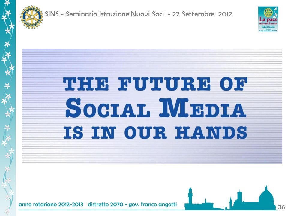 SINS - Seminario Istruzione Nuovi Soci - 22 Settembre 2012 36