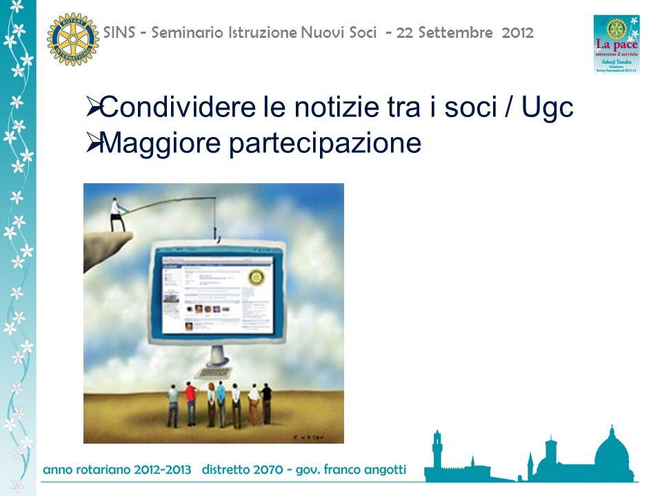 Condividere le notizie tra i soci / Ugc Maggiore partecipazione