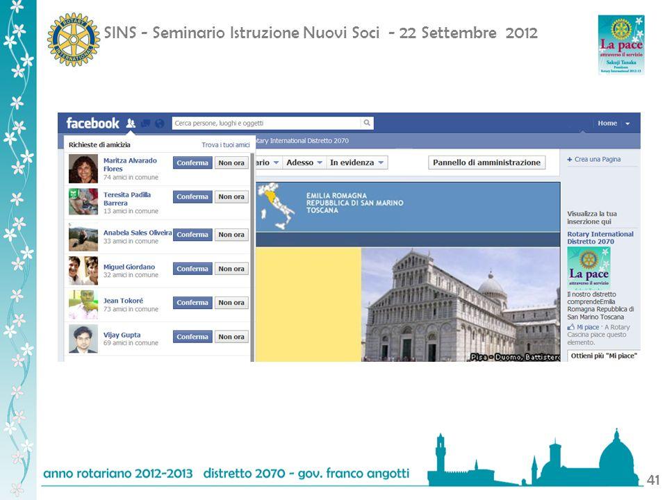 SINS - Seminario Istruzione Nuovi Soci - 22 Settembre 2012 41