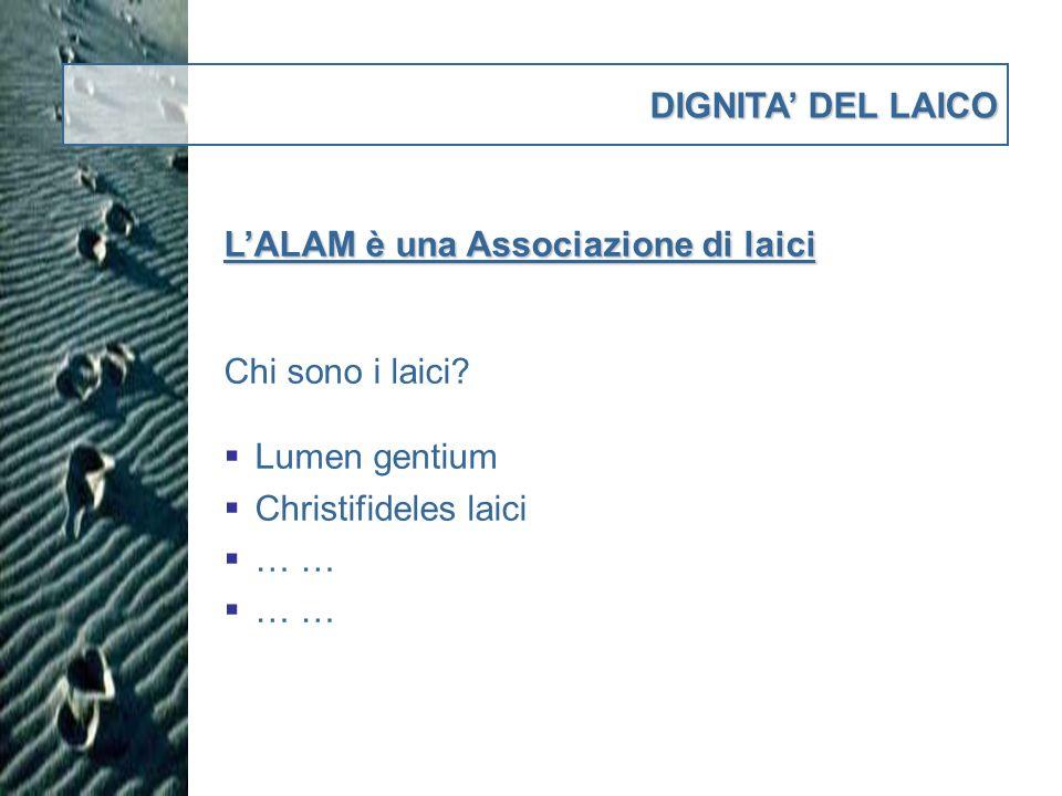 DIGNITA DEL LAICO LALAM è una Associazione di laici Chi sono i laici.