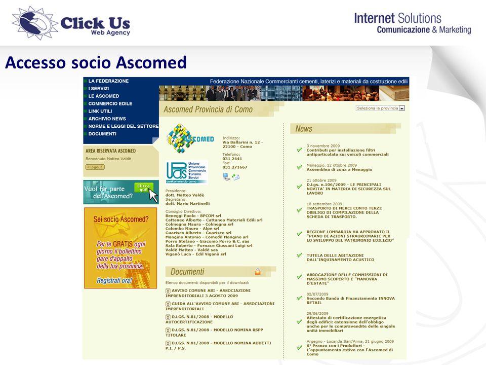 Accesso socio Ascomed