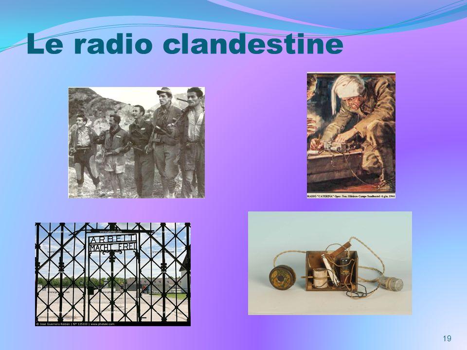 Le radio clandestine 19