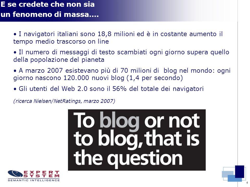 4 E se credete che non sia un fenomeno di massa…. I navigatori italiani sono 18,8 milioni ed è in costante aumento il tempo medio trascorso on line Il