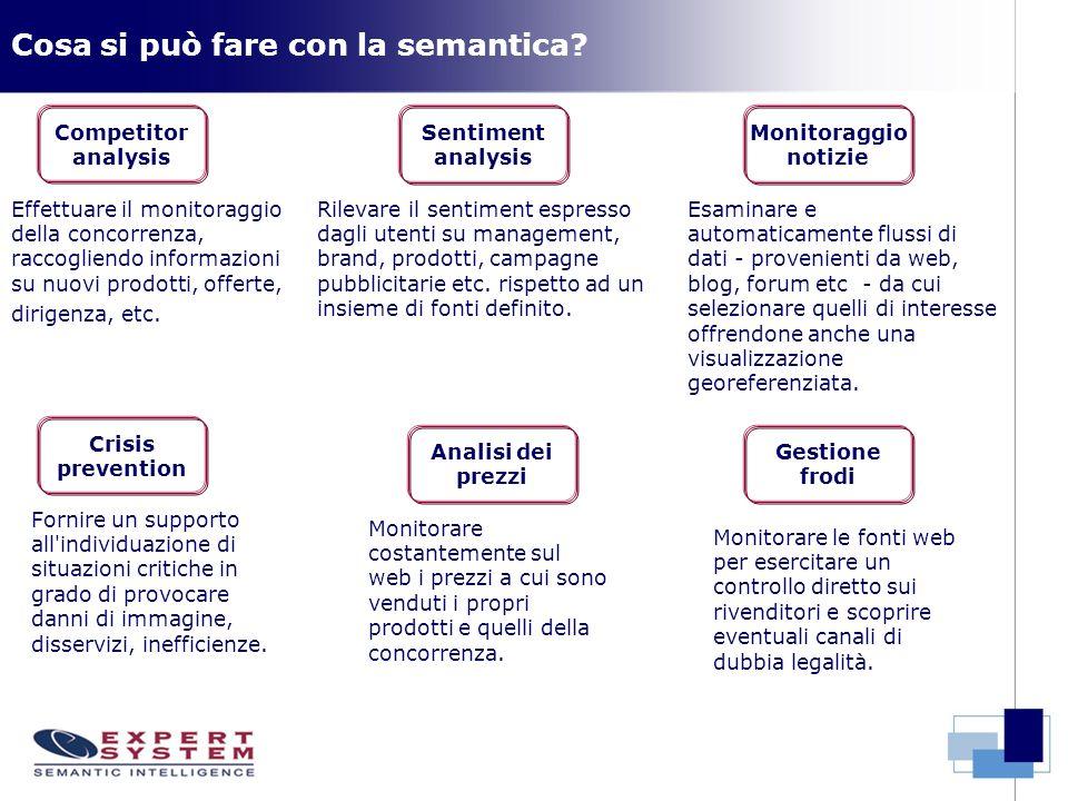 Cosa si può fare con la semantica? Fornire un supporto all'individuazione di situazioni critiche in grado di provocare danni di immagine, disservizi,