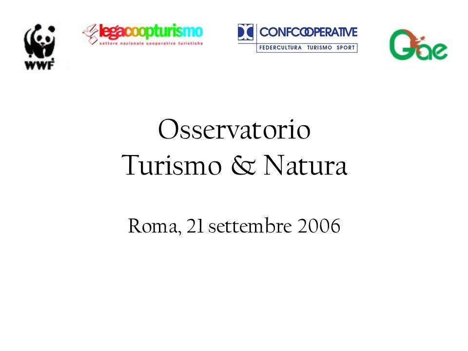 Osservatorio Turismo & Natura Roma, 21 settembre 2006