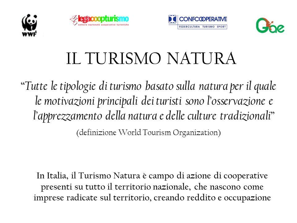 IL TURISMO NATURA Tutte le tipologie di turismo basato sulla natura per il quale le motivazioni principali dei turisti sono l osservazione e l apprezz