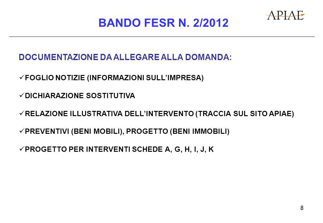 9 BANDO FESR N.