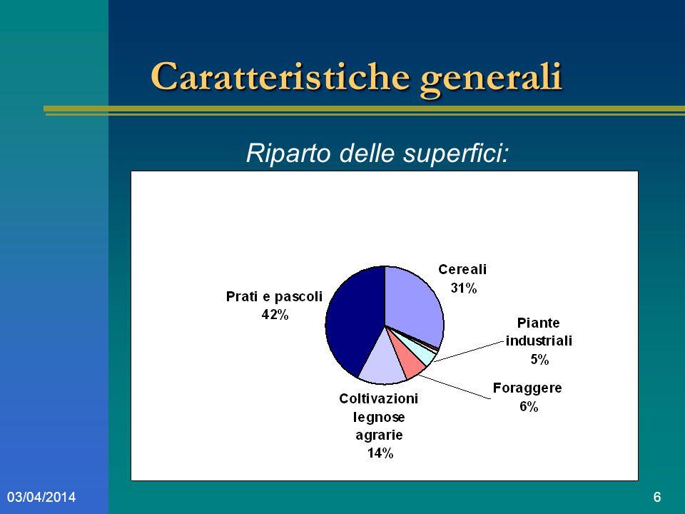 603/04/2014 Caratteristiche generali Riparto delle superfici: