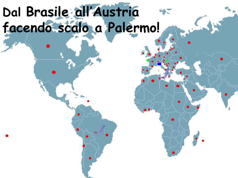 Dal Brasile allAustria facendo scalo a Palermo!