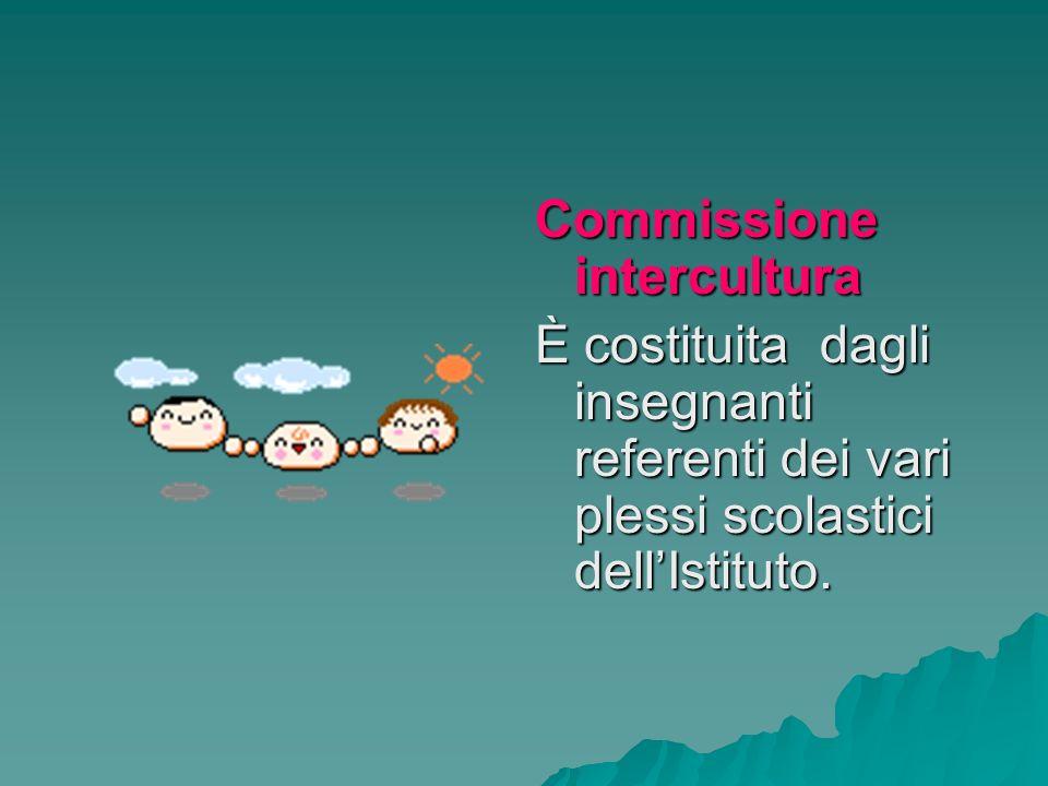Commissione intercultura È costituita dagli insegnanti referenti dei vari plessi scolastici dellIstituto.
