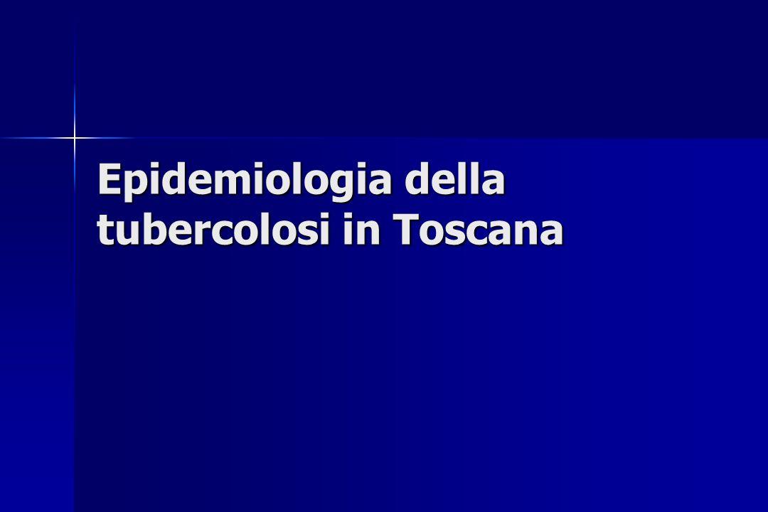 Epidemiologia della tubercolosi in Toscana