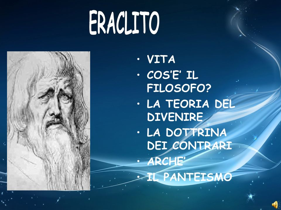 Eraclito nacque verso il 540 a.C.a Efeso, colonia ateniese dellAsia Minore, da famiglia nobile.