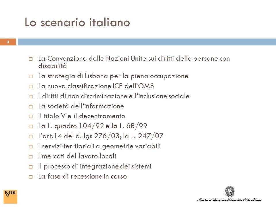 Ministero del Lavoro, della Salute e delle Politiche Sociali 4 Le persone disabili in Italia (stima) in Italia le persone con disabilità sono 2milioni 600mila, pari al 4,8% circa della popolazione di 6 anni e più che vive in famiglia.